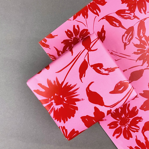Silhouette Floral Gift-wrap