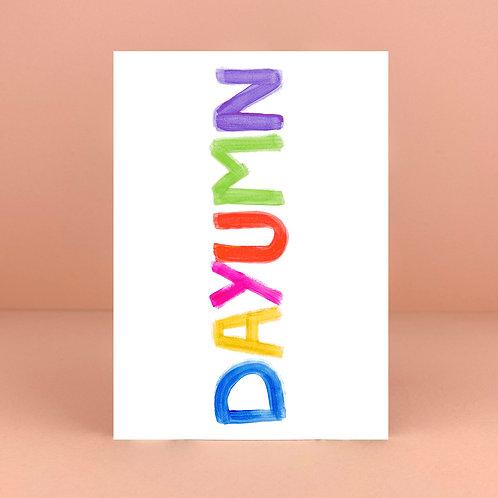 DAYUMN Card