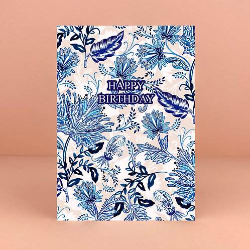 Birthday Blue Boho Card