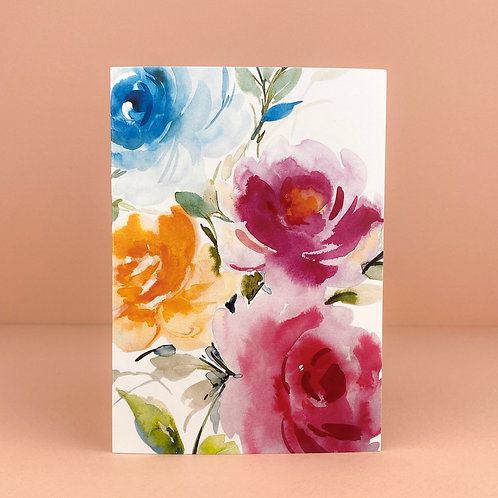 Watercolour Floral Greeting Card