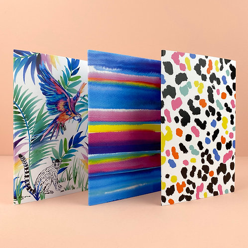 Tropical Set Greeting Cards