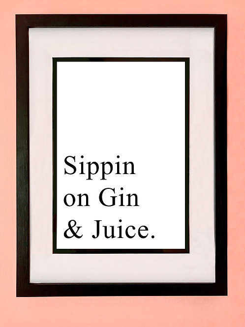 Sippin Wall Art