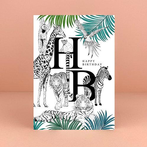 Birthday Safari Card