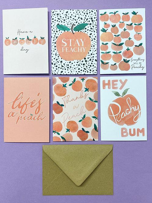 Peachy Card Set of 6