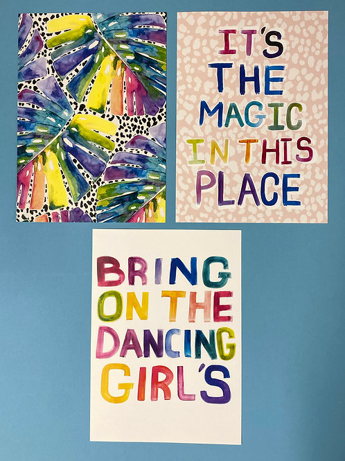 Girls & Jungle Set A4