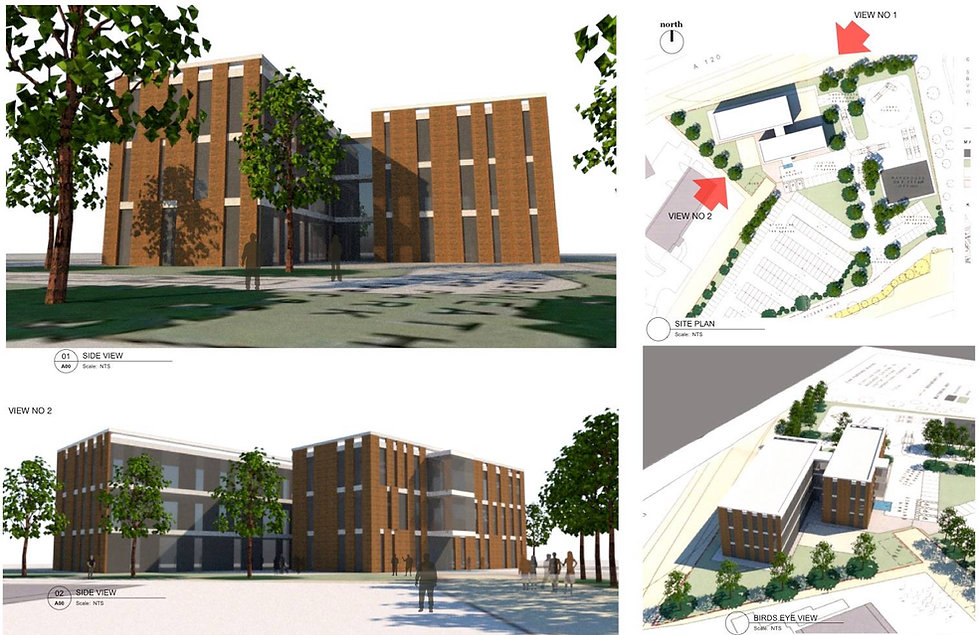 Concept design for a headquarted of a commercial Building in Braintree