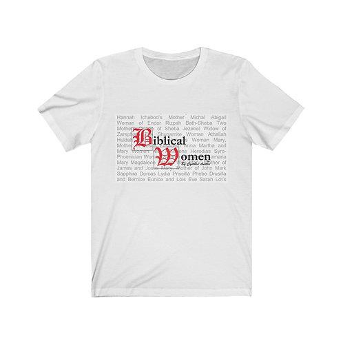 Biblical Women Logo White Tee