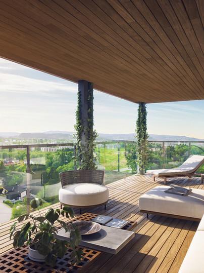 Rendering balkong
