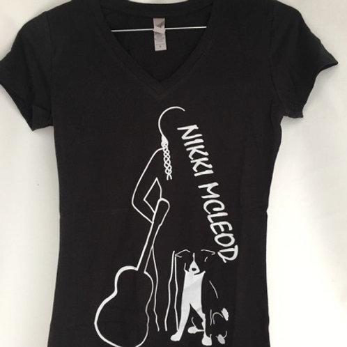 Nikki McLeod Logo V-Neck T-Shirt