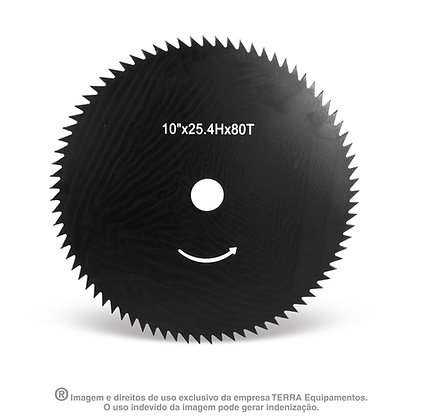 "DISCO CORTE 250MM(10"") 80 DENTES FURO 25,4MM(1"")"