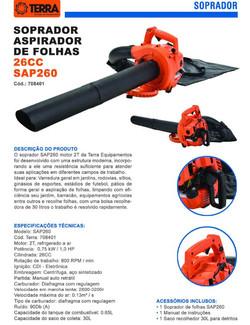 Sopro Aspirador de Folhas SAP 260