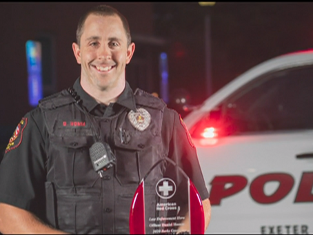 "Red Cross Honors Berks Police Officer for ""Blue Cares"" Outreach"