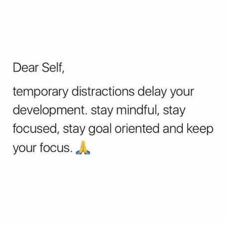 Self Focused = Success!