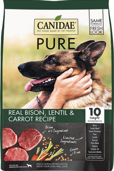 Canidae PURE Grain Free Bison, Lentil & Carrot Dry Dog Food
