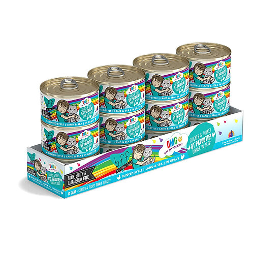 BFF QT Patootie! Chicken & Turkey Canned Cat Food, 2.8oz, case of 12