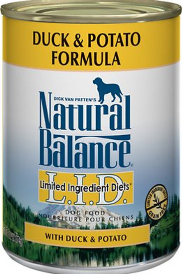 Natural Balance L.I.D. Duck & Potato Formula Canned Dog Food, 13oz, case of 12