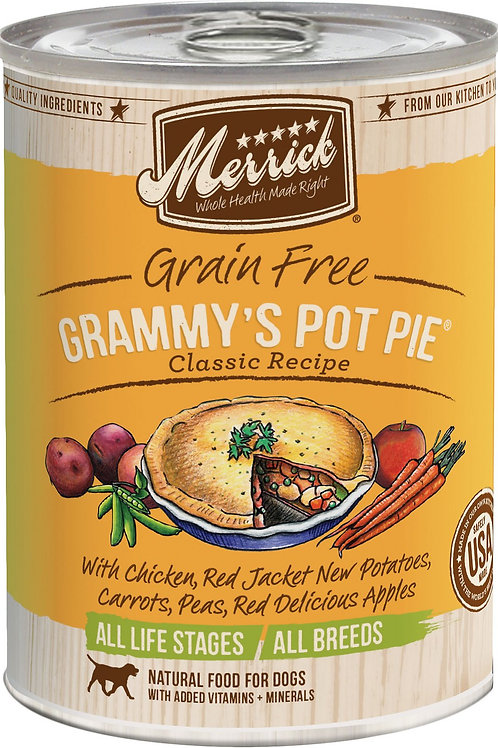 Merrick Grammy's Pot Pie Recipe Canned Dog Food, 12.7-oz, case of 12