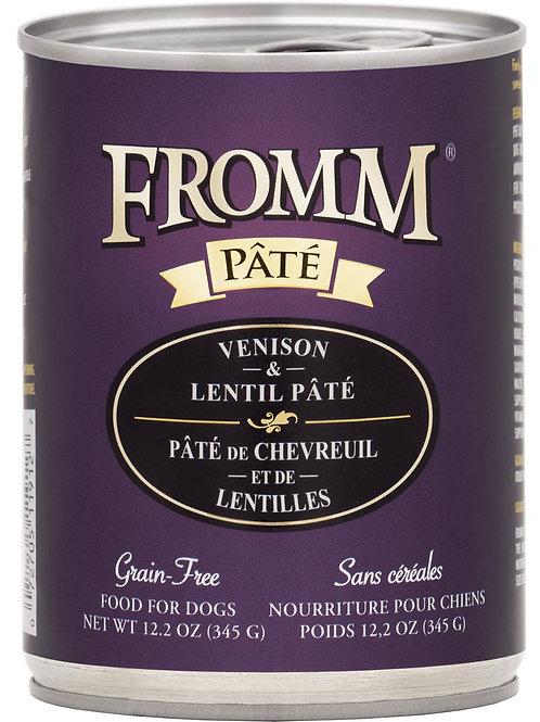 Fromm Venison & Lentil Pate Canned Dog Food, 12.2-oz, case of 12