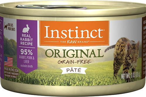 Instinct Original Grain-Free Rabbit Pate Canned Cat Food, 3 oz, Case of 24