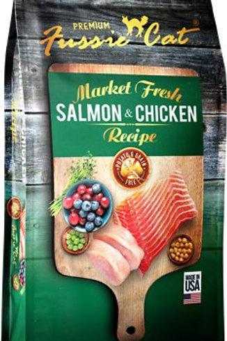 Fussie Cat Grain Free Salmon & Chicken Dry Cat Food