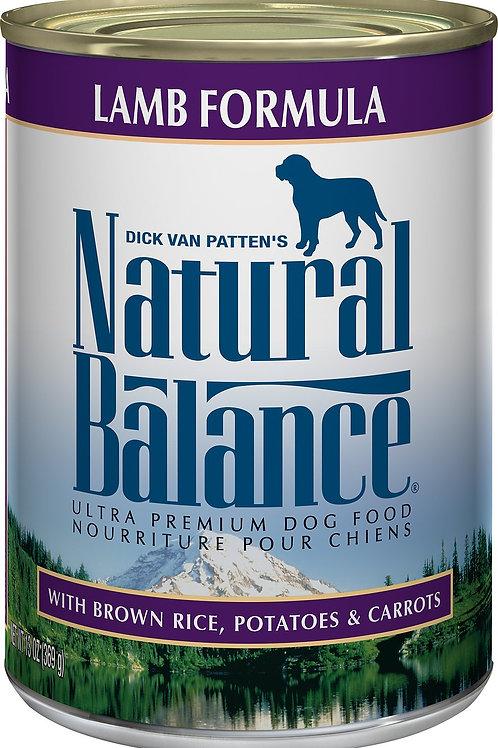 Natural Balance Ultra Lamb Formula Canned Dog Food, 13-oz, case of 12
