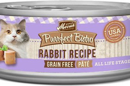 Merrick Purrfect Bistro Rabbit Pate Canned Cat Food, 5.5-oz, case of 24