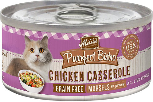 Merrick Purrfect Bistro Chicken Casserole Canned Cat Food 5.5 oz case of 24