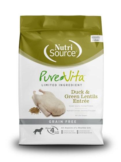 PureVita Grain Free Duck & Green Lentils Recipe Dry Dog Food