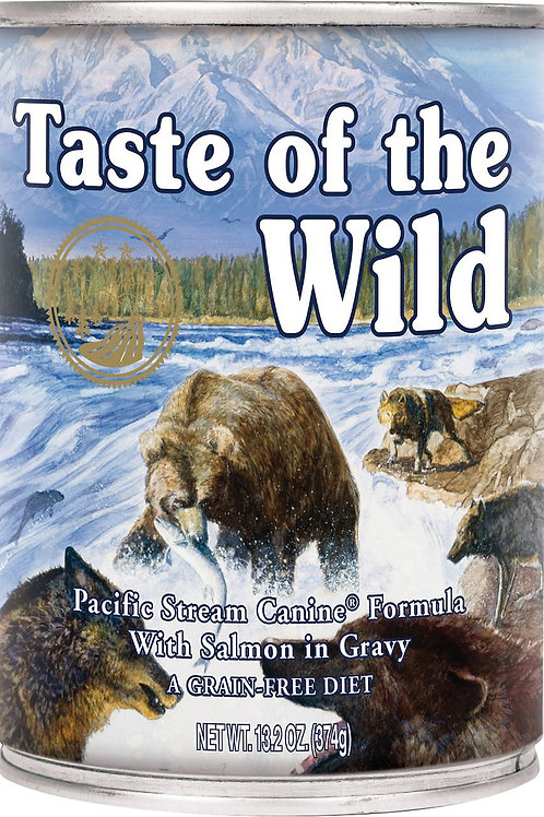 Taste of the Wild Pacific Stream Grain-Free Canned Dog Food, 13.2-oz, case of 12