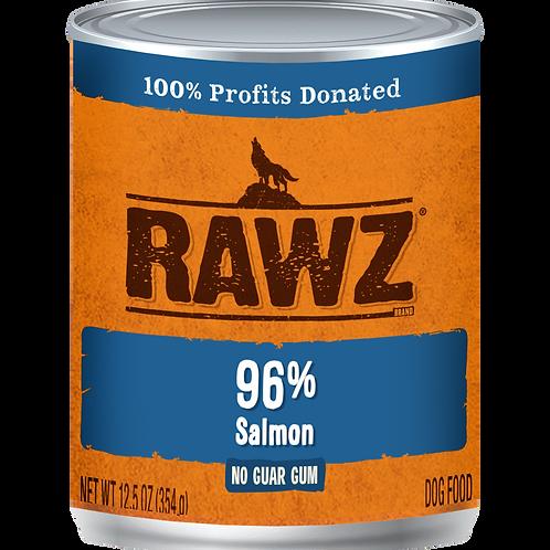 RAWZ Dog 96% Salmon, 12.5-oz, case of 12