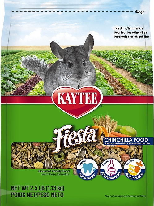Kaytee Fiesta Gourmet Variety Diet Chinchilla Food