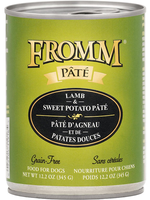 Fromm Lamb & Sweet Potato Pate Canned Dog Food, 12.2-oz, case of 12