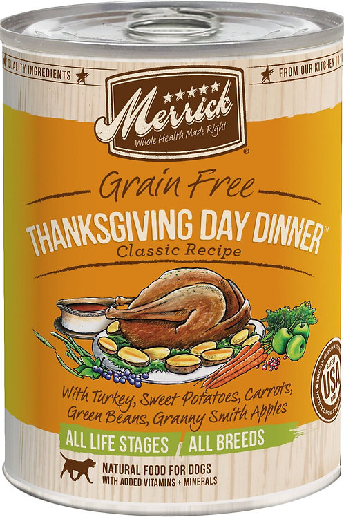 Merrick Thanksgiving Day Dinner Canned Dog Food, 12.7-oz, case of 12