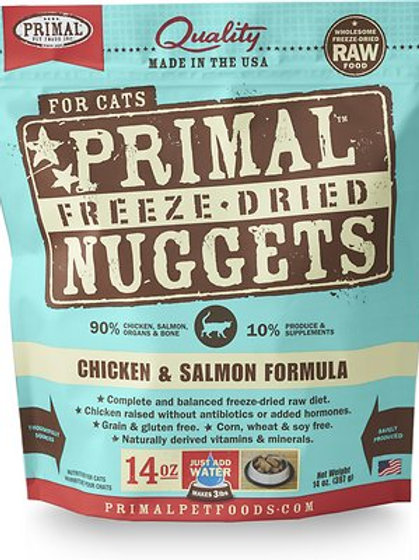 Primal Cat Freeze-Dried Chicken/Salmon Nuggets