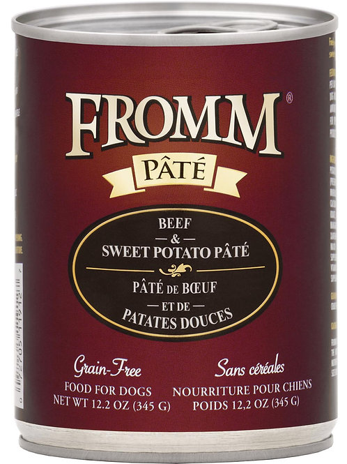 Fromm Beef & Sweet Potato Pate Canned Dog Food, 12.2-oz, case of 12