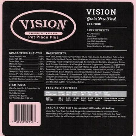 Vision Grain Free Pork Dry Dog Food Recipe