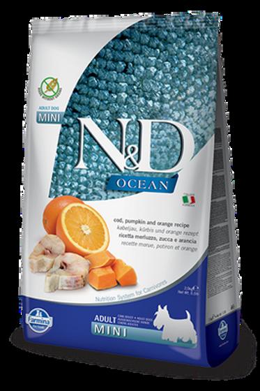Farmina N&D Ocean Cod, Pumpkin & Orange Adult Mini Dry Food For Dogs