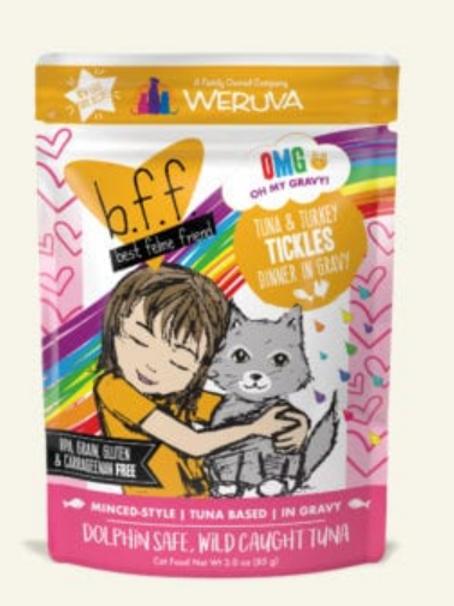 BFF Tickles Tuna & Turkey Dinner Wet Cat Food, 3oz, pack of 12