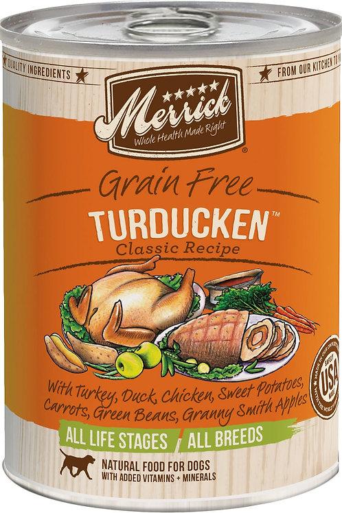 Merrick Turducken Recipe Canned Dog Food, 12.7-oz, case of 12