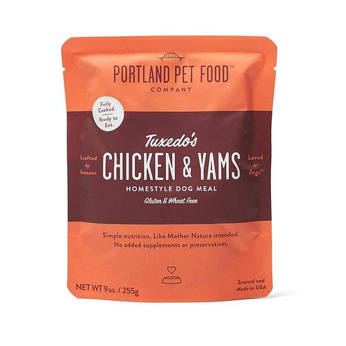 Portland Pet Food Tuxedo's Chicken & Yams Pouch Dog Meal