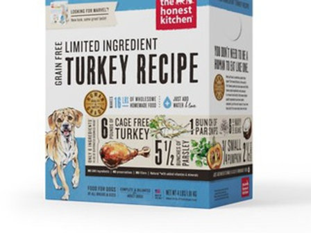 The Honest Kitchen LID Turkey Recipe Grain-Free Dehydrated Dog Food