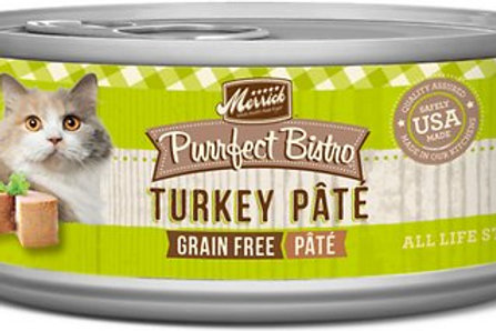 Merrick Purrfect Bistro Turkey Pate Canned Cat Food, 5.5-oz, case of 24