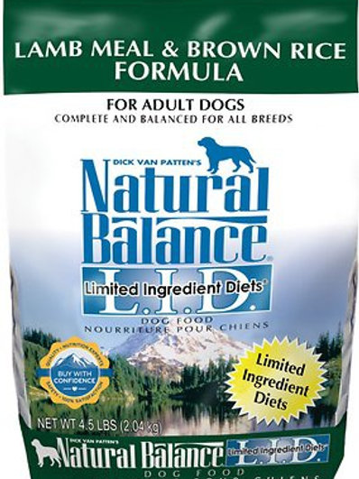 Natural Balance L.I.D. Lamb Meal & Brown Rice Dry Dog Food