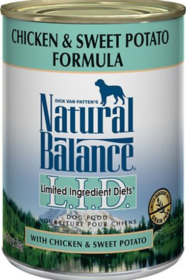 Natural Balance L.I.D. Chicken & Sweet Potato Canned Dog Food, 13oz, case of 12