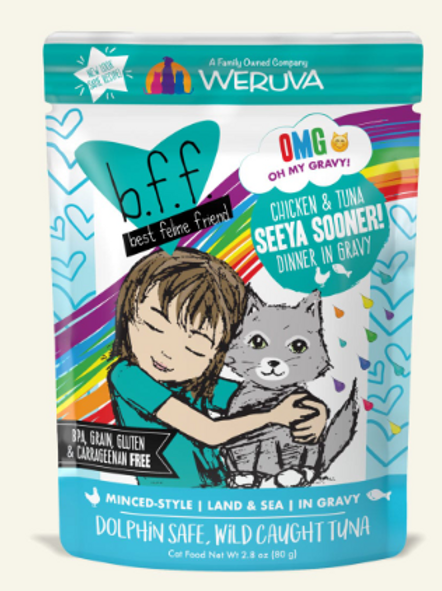 BFF Seeya Sooner! Chicken & Tuna Dinner Wet Cat Food, 2.8oz, pack of 12