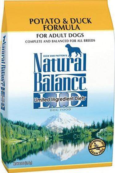 Natural Balance Grain Free L.I.D. Potato & Duck Formula Dry Dog Food