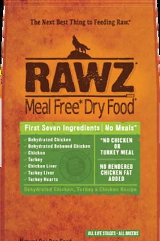 RAWZ Meal Free, Turkey & Chicken Recipe Dry Dog Food