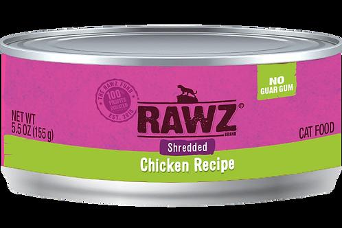 RAWZ Chicken Shredded Cat Can, 5.5-oz, case of 24