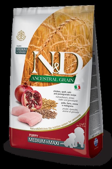 Farmina N&D Ancestral Grain Chicken & Pomegranate Med/Maxi Puppy Dry Dog Food