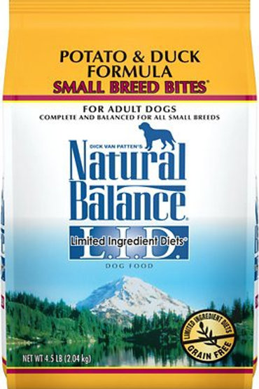 Natural Balance Small Breed L.I.D. Potato & Duck Dry Dog Food
